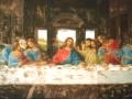 Wandmalerei Da Vincis Abendmahl