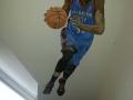 Wandmalerei mit Basketballspieler