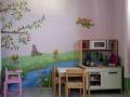 Wandbemalung mit Elfen und Mäusen