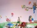 Kinderzimmer Wandmalerei mit Pilzhaus