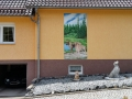 Fassadenmalerei, Tier und Jagdmalerei mit 2 Doggen