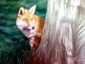 Portraitmalerei, Tier und Jagdmalerei von einem Fuchs