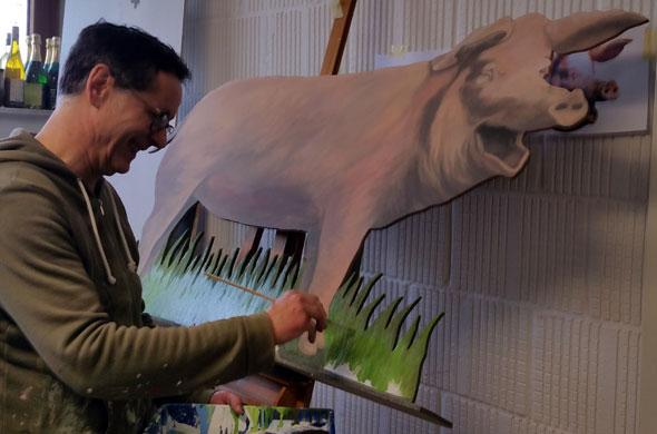 objektgestaltung Objektmalerei schwein