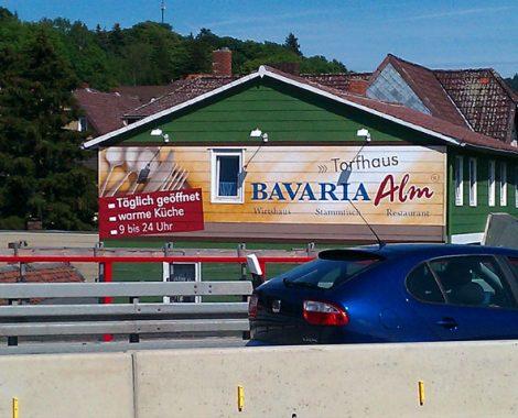 werbemalerei und schriftenmalerei alte bavaria alm werbung