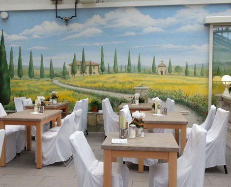 mediterrane malerei wandmalerei toskana